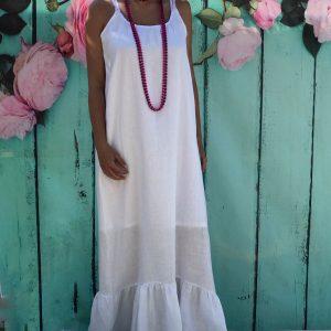 Vestido Branco 100% Linho